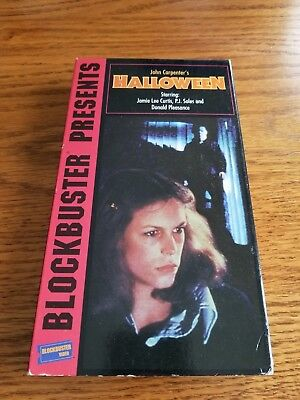 Halloween with Jamie Lee Curtis - Very Good (VHS, 1995, Blockbuster - Halloween Movie With Jamie Lee Curtis