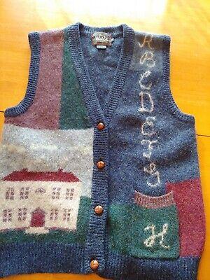 Woolrich Women's Small Hancrafted Wool Sweater Vest Teacher School unique B