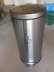 Simple human kitchen garbage can stainless steel