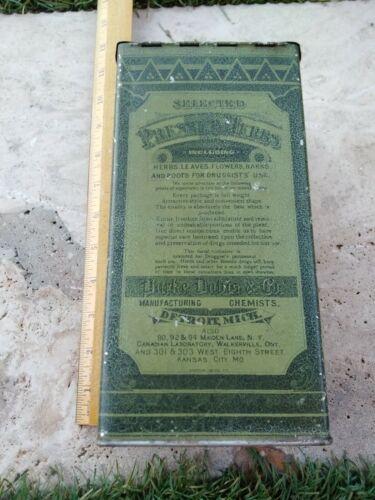 Parke Davis & Co Choice Pressed Herbs Botanic Tansy Leaves Tin Detroit Michigan
