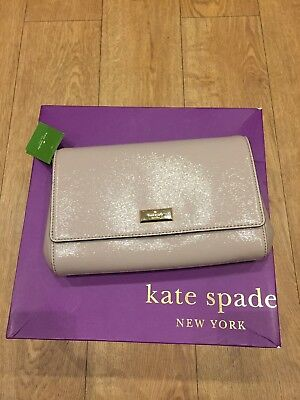 BNWT Kate Spade New York Nude 'Bixby  place'Clutch Bag.Gold Chain,Shoulder Strap