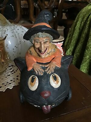 RETIRED BETHANY LOWE, MIDWEST OF CANNON FALLS WITCH ON BLACK CAT HEAD/WHEELS