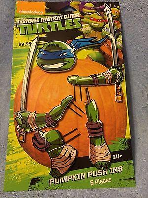 NICKELODEON TEENAGE MUTANT NINJA TURTLES PUMPKIN PUSH-INS 5 PIECES - NEW](Ninja Turtle Pumpkin)