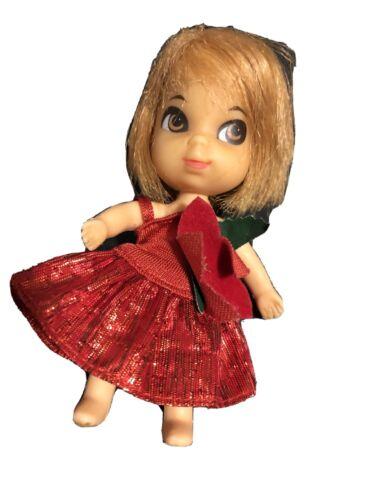 Vintage Liddle Kiddles SHEILA RED HAIR Version Doll Mattel 1960s Brown Eyes M5 - $26.00