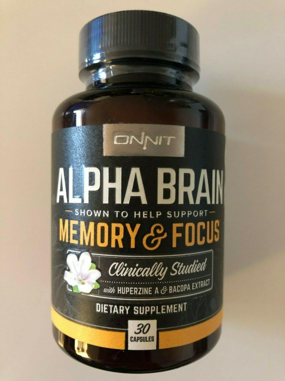ONNIT: Alpha Brain Supplement - MEMORY & FOCUS | 30 Ct | **CLINICALLY STUDIED**
