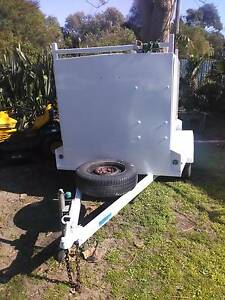 Eyre Carpet Steam cleaner set up on tradesman box trailer Lakes Entrance East Gippsland Preview