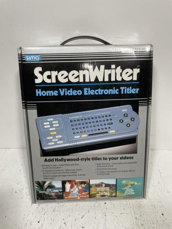 SIMA Screenwriter Video Movie Character Generator - NTSC - Model SCG
