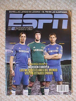 Espn Deportes La Revista Julio Agosto 2012 Fernando Torres  Petr Cech   Lampard
