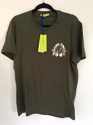 Versace Jeans Silver Foil Logo T-Shirt XL (more like M or L) Green