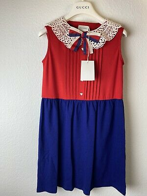 Gucci Girls Dress Size 10 Red/ Blue