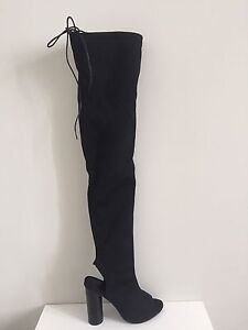 Thigh High Black Boots  COLLINGWOOD
