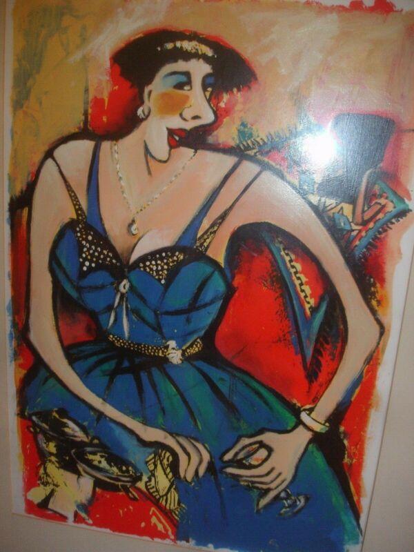 Original Artwork  by Wendy Heath    HUGE    fully framed  Value now $800
