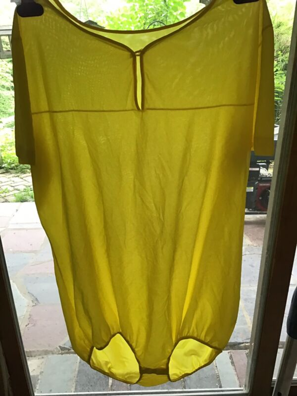 Van Raalte All Nylon Teddy Teddie Bodysuit Nightie L Large USA