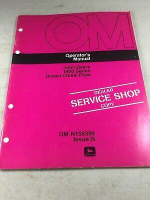 John Deere 1600 Chisel Plow Operators Manual