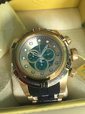 Invicta Men's RESERVE BOLT ZEUS Swiss Made Quartz Chrono Green-Gold Dial #19729