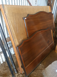 Vintage Double bed - head board and frame