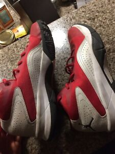 Size 8 Jordans used once or twice