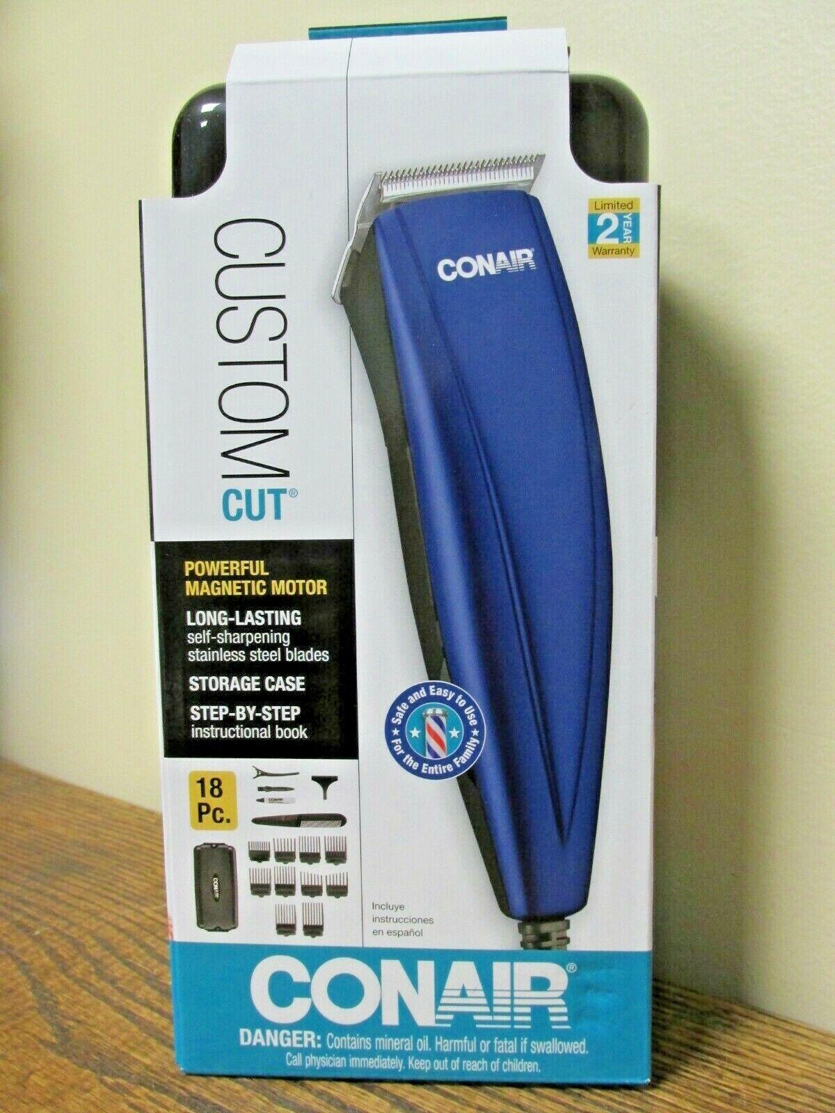 NEW!! Conair 18pc CUSTOM CUT Home Haircutting Kit - HC26RS
