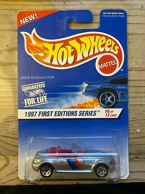 1997 Hot Wheels First Editions 97 BMW M Roadster Silver 6/12 518 5SP 1/64 BIN C