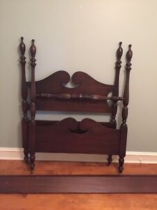 Two Solid Wood Antique Bed Frames