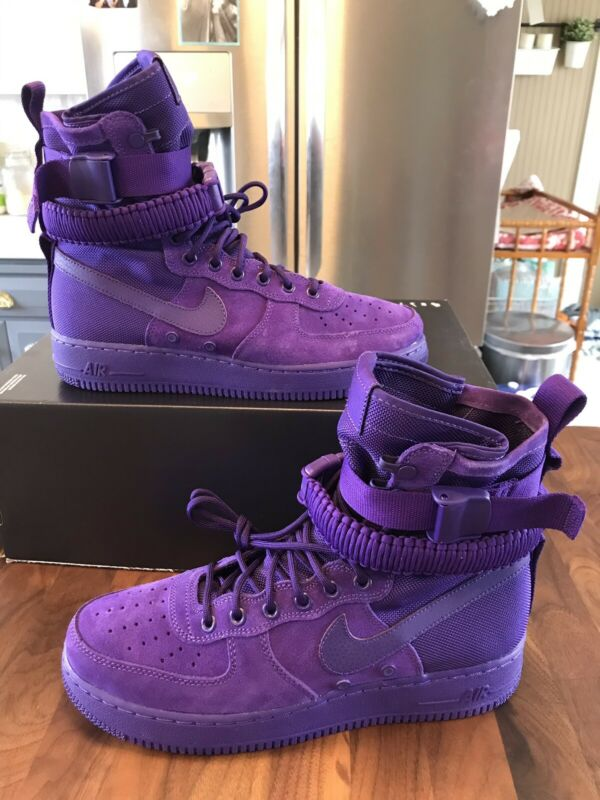 97060a10235e03 Nike 864024 500 SF AF1 Air Force 1 One High Boot Court Purple Size 10.5 -