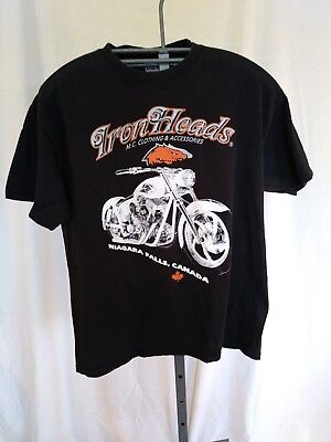 T SHIRT IRON HEADS CLOTHING & ACCESSORIES MOTORCYCLE NIAGARA FALLS CANADA LARGE