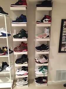 Air jordan 1,2,3,6,11,23.  Size 12-13 great condition of all