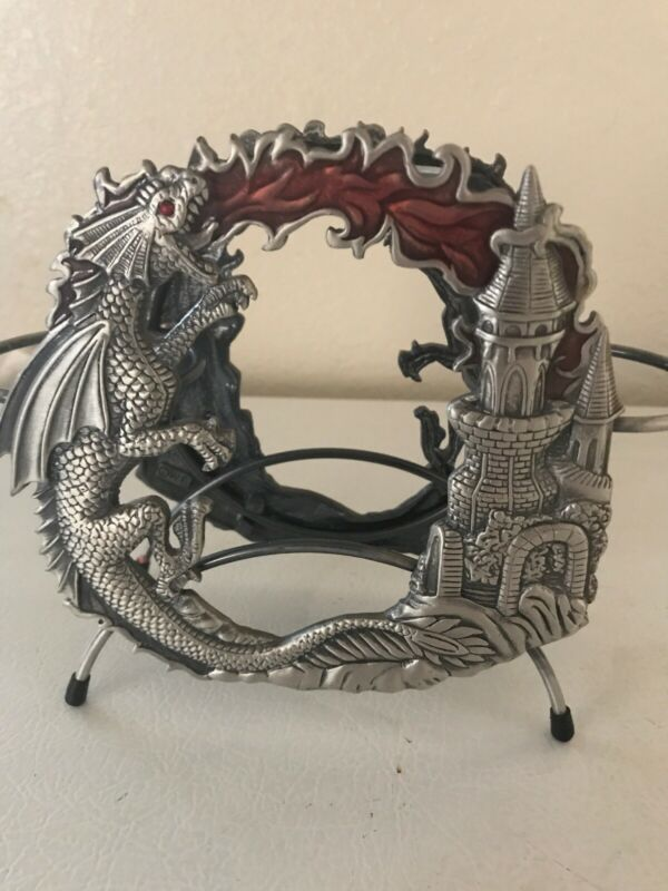 Dragon And Castle Candle Holder