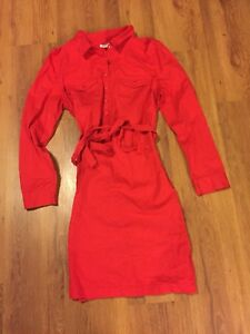 Red Button-down Dress from Old Navy - Size Large
