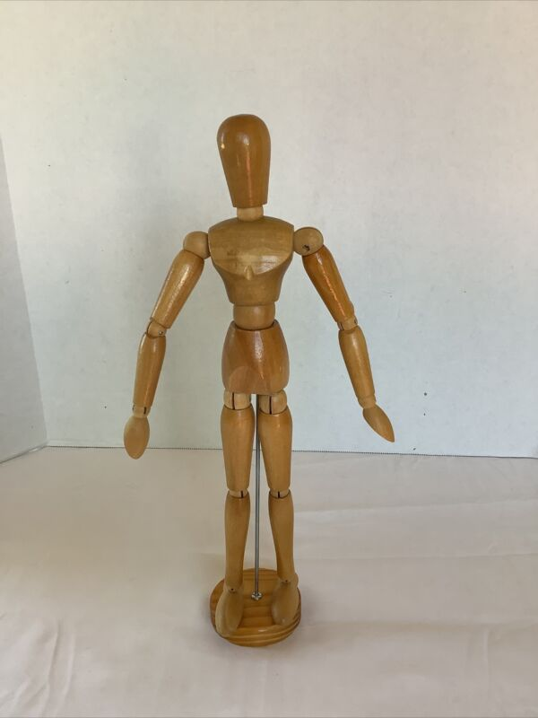 """12"""" Wooden Jointed Mannequin for Artists"""