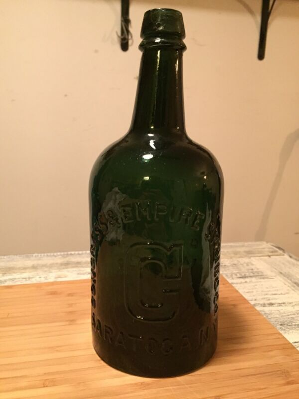 Pre 1900 Vintage Saratoga Congress & Empire Spring Mineral Water Bottle