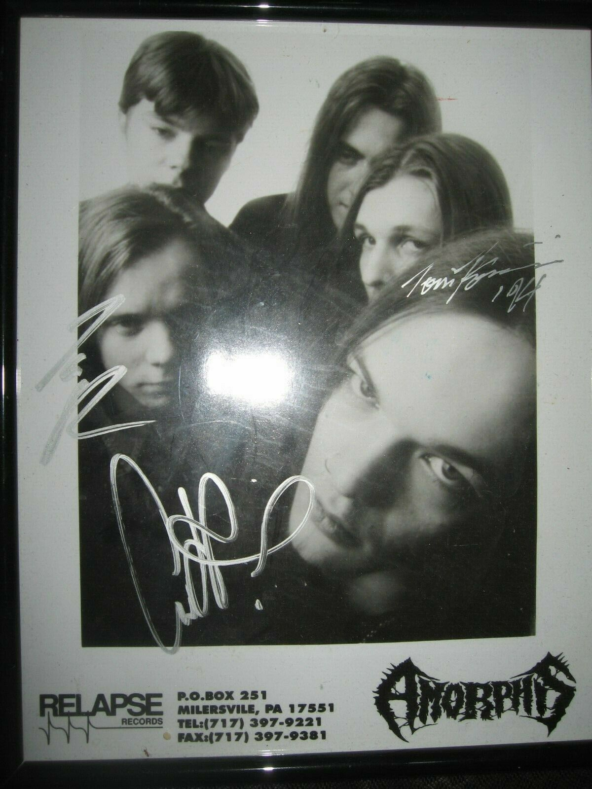 AMORPHIS - SIGNED AUTOGRAPHED RELAPSE PROMO 8 X 11 PROMOTIONAL TALES THOUSAND - $29.99