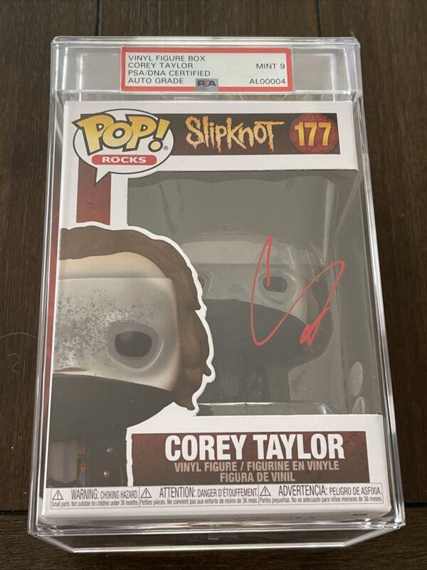 Corey Taylor Signed Slipknot Slabbed Funko Pop 177 PSA/DNA Mint 9 Auto Authentic