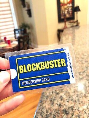 Vintage Blockbuster Video Rental Membership Card