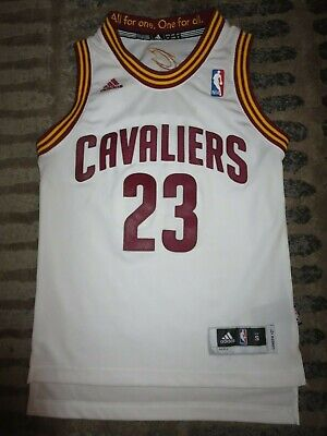 LeBron James #23 Cleveland Cavaliers Adidas NBA Finals Jersey Youth SM 6-8