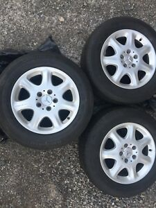 3 Mercedes Rims and Tires 225/60R16 - Buy 1,2 or all 3
