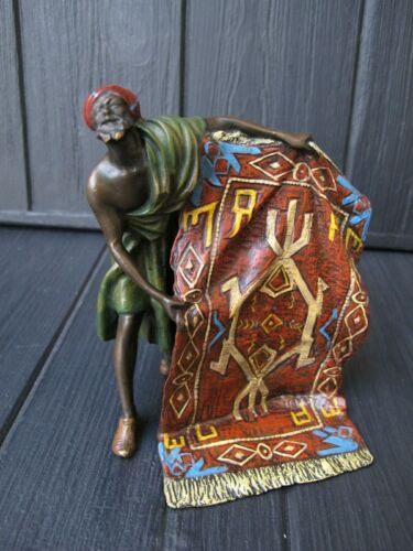 ARAB with Carpet   Bronze cold painted /