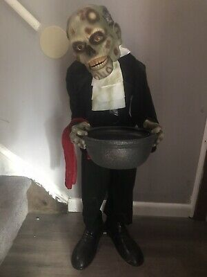 "Skeeves Butler Spirit Halloween Animated Halloween Prop 3"" Feet Tall - Lifesize"