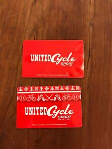 $1300 United Cycle Gift Cards