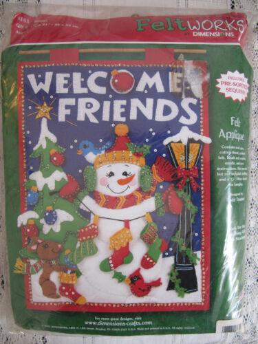 Dimensions GIFT GIVER Feltworks Felt Applique Christmas Banner Kit 8143 NIP