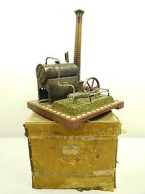 Uralt BING Dampfmaschine mit feststehendem Zylinder OVP Fliesenboden