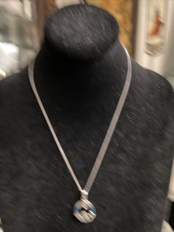 Solvar Ireland Celtic Jewelry Claddah Enamel Silvertone blue