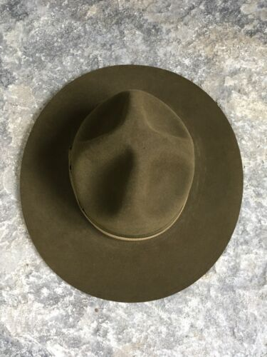 Vtg Orig Official 1960s BSA Boy Scout Campaign/Smokey Bear Hat Unworn SZ 6 5/8