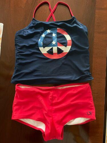 Girls OP Two Piece Tankini Bathing Suit Size 14-16