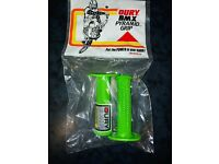 VTG 80s NOS OURY BMX Pyramid Grip Old School BMX Grips Green with Decal
