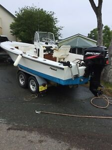 17 foot , mako with 50 hp mercury for sale!