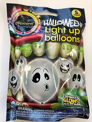 5 illooms light up Silly ghost Halloween balloons trick or treat party  - 5 Halloween Tricks