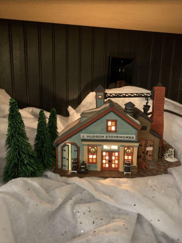 Dept 56 New England Village J. Hudson Stoveworks # 56574