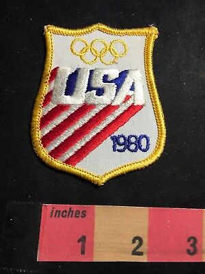 American Flag Theme USA 1980 OLYMPICS Patch 80NJ - Olympic Themed Crafts