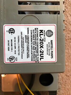 Universal Furnace Automatic Condensate Pump 15 Foot Lift w// Safety Shut-Off